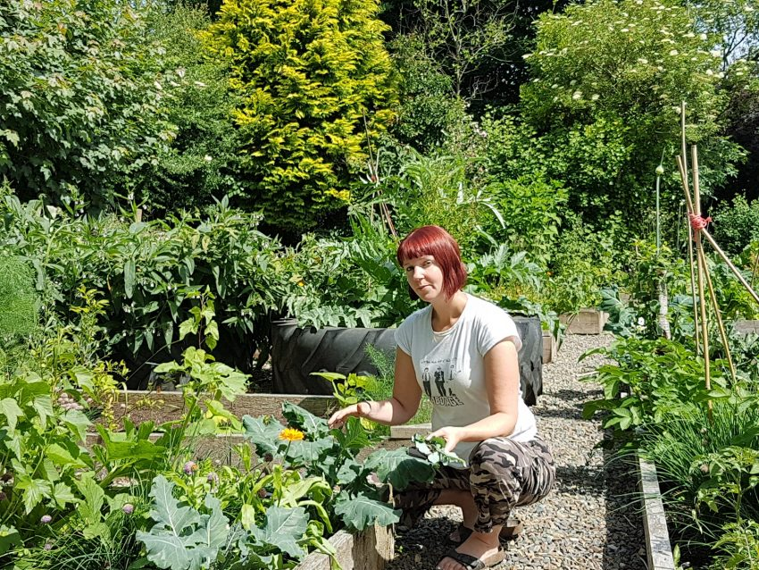 Kim pictured in her resilient gardens